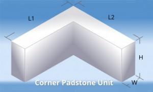 Padstone Corner Unit