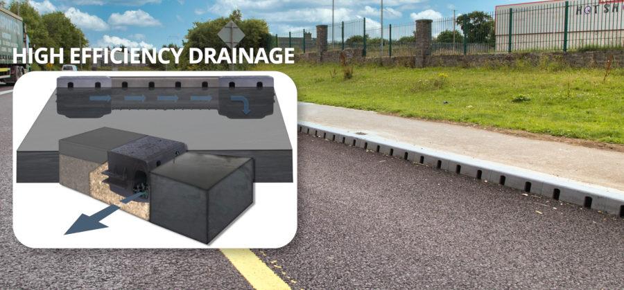 DuraDrain combined drainage kerb