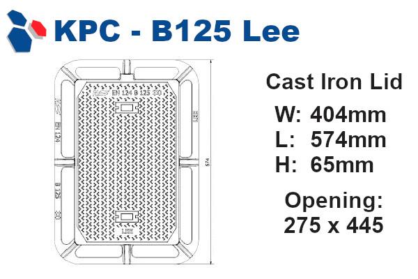 B125 Lee Junction Box Lid
