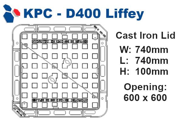 D400 Liffey Junction Box Lid