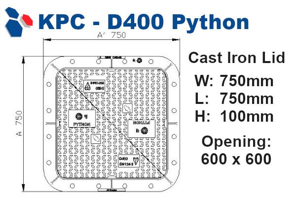 D400 Python Junction Box Lid